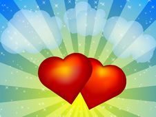 Free Two Hearts Stock Photo - 8335780