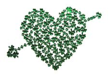 Free St Patrick S Day Heart With Arrow Royalty Free Stock Photo - 8335885