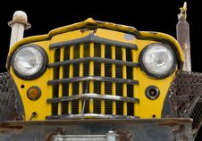 Free Old Yellow Custom Off-road Truck Royalty Free Stock Photos - 8336398