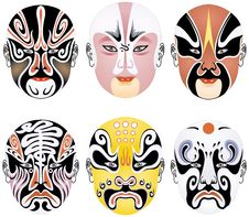 Free Beijing Opera Types Of Facial Makeup In Operas Stock Photos - 8336433