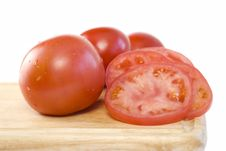 Free Fresh Sliced Tomatoes Copy Space Stock Photography - 8336552