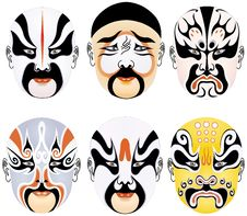 Free Beijing Opera Facial Types Royalty Free Stock Images - 8336569