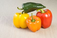 Free Colorful Stacked Peppers Stock Photo - 8336650