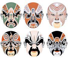 Free Beijing Opera Make-ups Royalty Free Stock Photography - 8336987