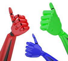 Free Set Of Robotic Hands With Thumb Up. Stock Images - 8337374