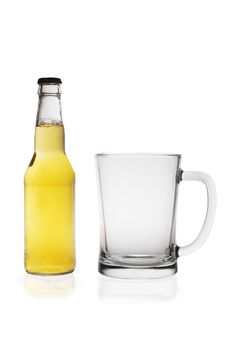 Beer Bottle And Glass Royalty Free Stock Image
