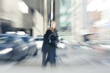 Free Elderly Woman Walking Across The Street Royalty Free Stock Images - 8337579