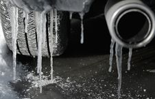 Free Icicles On Bumper Royalty Free Stock Photography - 8338117