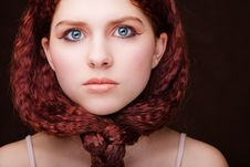 Free Pretty Young Girl With Tied Hair Stock Image - 8338931