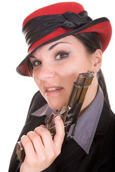 Free Woman With Gun Royalty Free Stock Images - 8339209