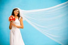 Free Bride With A Wedding Bouquet Stock Photo - 8339230