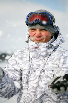 Free Snowboarder With Snow Royalty Free Stock Photography - 8339247