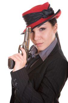 Free Woman With Gun Stock Photos - 8339263
