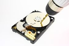 Destroying Hard Drive Royalty Free Stock Image