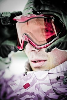 Free Snowboarder Looking In Goggles Stock Images - 8339374