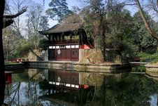 Free Pixian, China: Teahouse At Wang Cong Ci Park Royalty Free Stock Images - 8339449