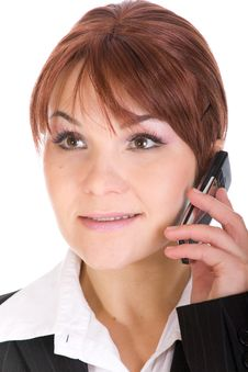 Free Phone Woman Stock Image - 8339551