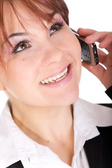 Free Phone Woman Royalty Free Stock Images - 8339589