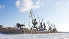 Port Cranes. Stock Photography