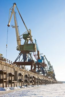Free Port Cranes. Stock Photography - 8339962