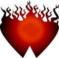 Free Heart Fire Royalty Free Stock Photo - 8348985
