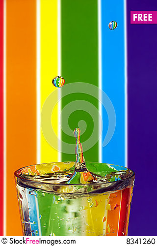 Free Colors And Drops Stock Photo - 8341260