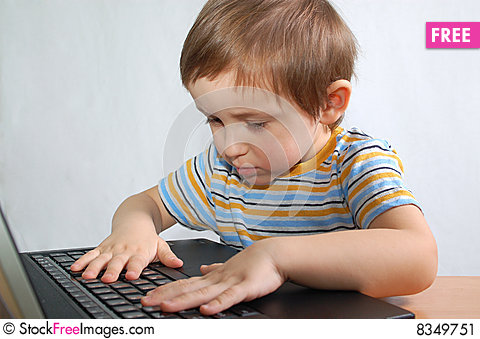 Free Little Boy With Notebook Stock Image - 8349751