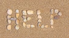 Free Sand Writing Royalty Free Stock Photography - 8340167