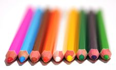Free Set Of Colored Pencils Stock Photo - 8340460