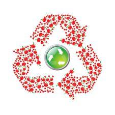 Free Apple Recyling Symbol Royalty Free Stock Image - 8340736
