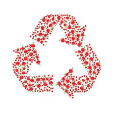 Free Apple Recyling Symbol Royalty Free Stock Images - 8340739