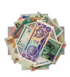 Currencies From Around The World, Paper Banknotes. Stock Photography