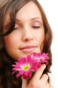 Free The Girl With A Flower Stock Photography - 8341472