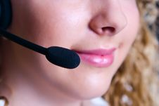 The Employee Of The Call Center Royalty Free Stock Photography