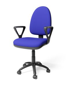 Blue Office Armchair Royalty Free Stock Photography
