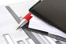 The Handle And Notebook Stock Photo