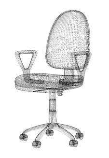 Free Office Chair Structure Stock Photography - 8341812