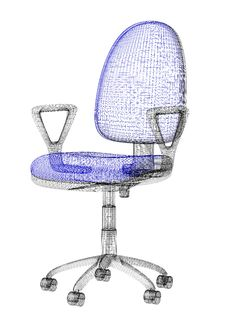 Free Office Armchair Wireframe Stock Images - 8341914