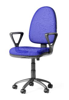 X-ray Of Office Armchair Stock Image