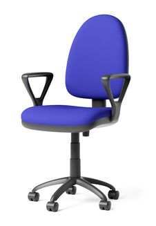 Free Blue Office Armchair Stock Photography - 8341962