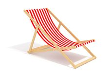 Red Chaise Longue Royalty Free Stock Photography