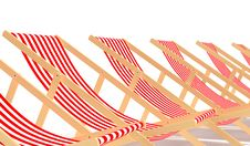 Free Red Chaises Longue Stock Images - 8342194