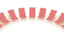 Free Red Chaises Longue Royalty Free Stock Images - 8342209