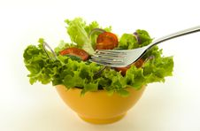 Free Healthy Fresh Salad On White Background Royalty Free Stock Photography - 8342337