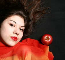 Free The Girl With An Apple. Stock Photo - 8342450