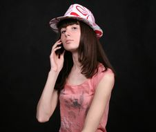 Free Girl Talking By Phone Royalty Free Stock Photos - 8342468