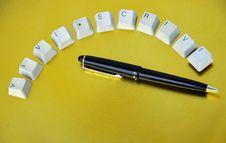 Free Keys And Pen Stock Photos - 8342513