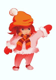 Free The Winter Girl Royalty Free Stock Images - 8342589