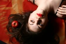 Free The Girl With An Apple. Royalty Free Stock Image - 8342596