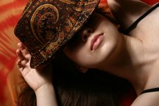 Free The Girl And A Hat. Royalty Free Stock Photography - 8342887